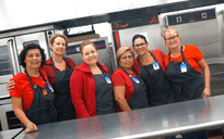 Kitchen Staff Supporting Red Ribbon Week